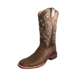 Ferrini Western Boots Mens Caiman Gator Cowboy Sport Rust 40393-23