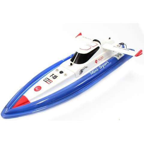 "17"" RC 1:25 Electric Mini Tracer Racing Remote Control Boat Blue"