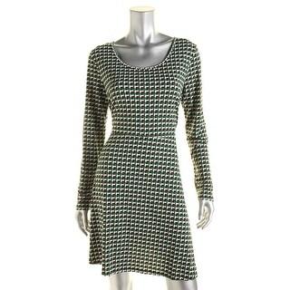 MICHAEL Michael Kors Womens Printed Long Sleeves Wear to Work Dress - L