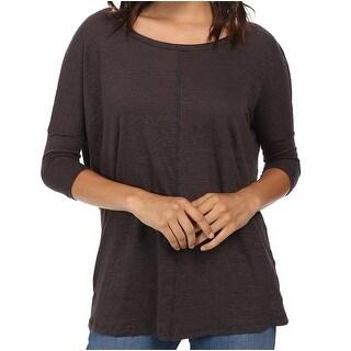 Mod-o-doc NEW Dark Gray Women's Size XS Linen Solid Dolman Blouse