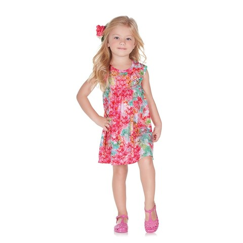 Pulla Bulla Toddler Girl Tropical Style Dress
