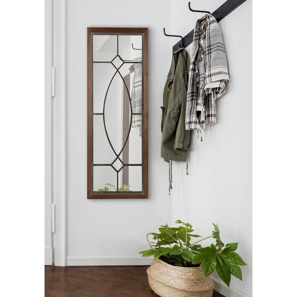 Kate and Laurel Bakersfield Wood Framed Mirror. Opens flyout.