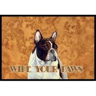 Carolines Treasures LH9454MAT 18 X 27 In. French Bulldog Wipe Your Paws Indoor Or Outdoor Mat