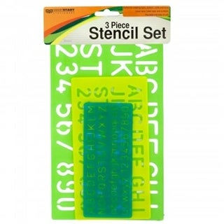 Bulk Buys HW666-48 Numbers & Letters Stencil Set - 48 Piece