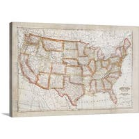 Ramona Murdock Premium Thick-Wrap Canvas entitled Map of USA - Multi-color