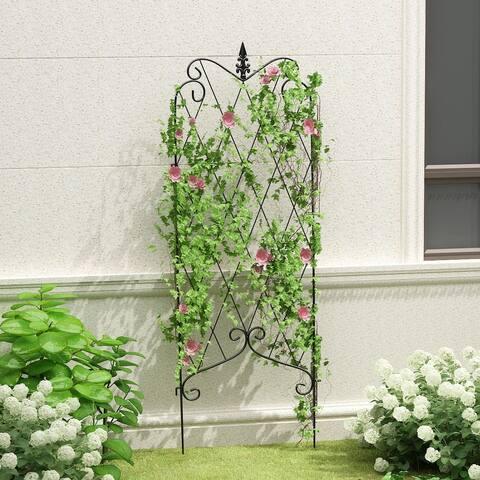 Outdoor Coated Metal Rustproof Garden Fence (Set of 4)