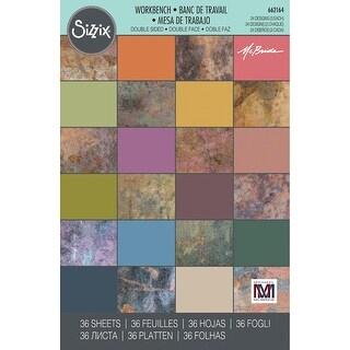 """Sizzix 4""""X6"""" Cardstock Pad By Mike Mcbride 36/Pkg-Workbench"""