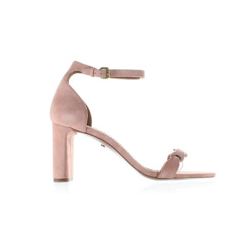 Coach Womens Peony Pink Ankle Strap Heels Size 9