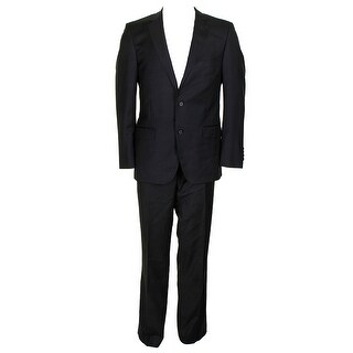 Dkny Charcoal Solid Extra Slim Fit Single Breasted Notched Lapel Suit S - 40s