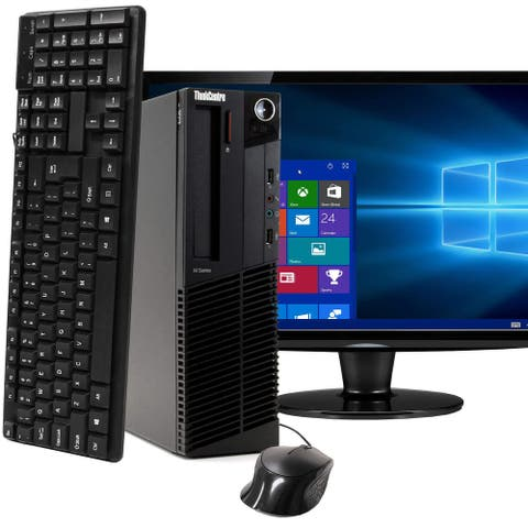 Lenovo M91 Intel i7 8GB 1TB HDD Windows 10 Pro WiFi Desktop PC - Black