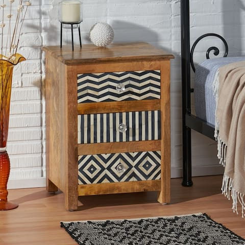 Floretta Mango Wood Nightstand by Christopher Knight Home