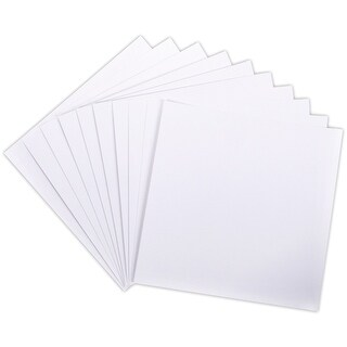 "Core'dinations 80lb Canvas Cardstock 12""X12"" 10/Pkg-White"