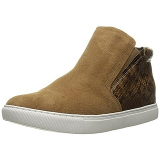 Kenneth Cole New York Womens Kalvin Fashion Sneakers Suede Snake Print - 7 medium (b,m)