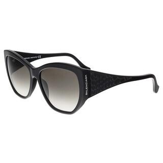 Balenciaga BA0022 01B Black Cat Eye Sunglasses - 58-15-140
