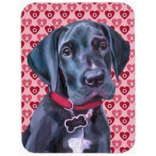 Black Great Dane Puppy Hearts Love And Valentines Day Mouse