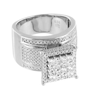 Square Face Wedding Ring Princess Cut Solitaires Lab Diamonds Engagement