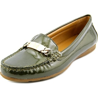 Coach Olive Women Round Toe Synthetic Green Loafer
