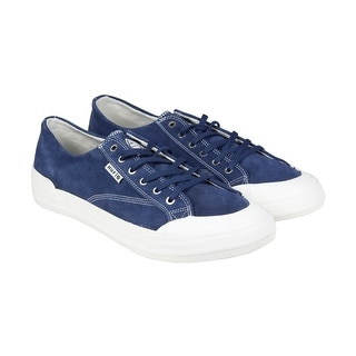 HUF Classic Lo Mens Blue Suede Lace Up Sneakers Shoes