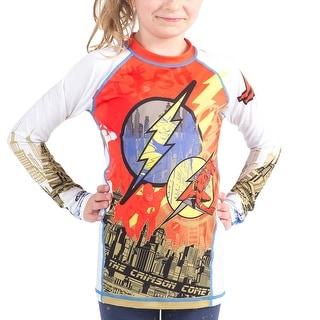 Fusion Fight Gear Kid's The Flash Crimson Comet Long Sleeve Rashguard