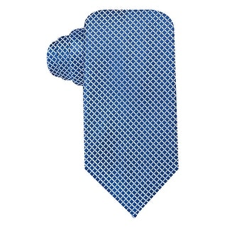Geoffrey Beene Blue Mini-Grid Silk Blend Tie Classic Width Necktie
