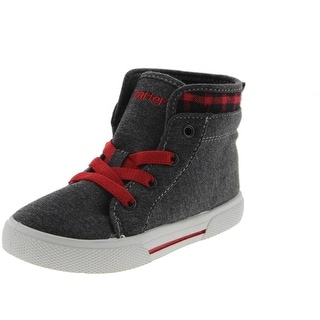 Carters Boys Summon High Top Plaid Sneakers - 11