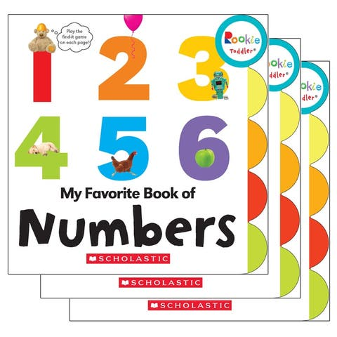(3 Ea) Board Book My Fav Book Of Numbers Rookie Toddler