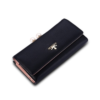 Monte Carlo Faux Leather Clutch