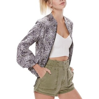 Free People Womens Cargo Shorts High Waist Flat Front