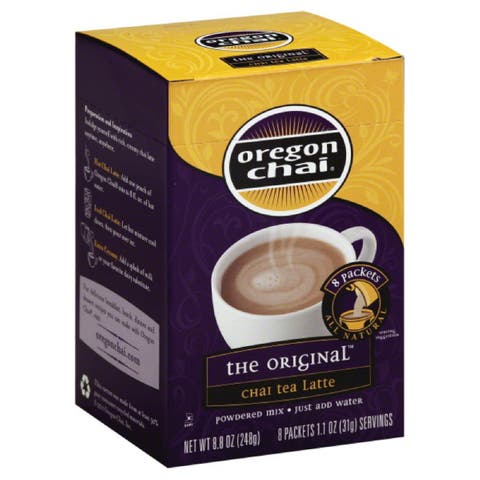 Oregon Chai The Original Powdered Mix Chai Tea Latte, 8 Pc (Pack of 6)