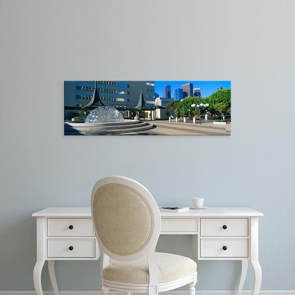 Easy Art Prints Panoramic Images's 'Civic Center East, Los Angeles, California' Premium Canvas Art