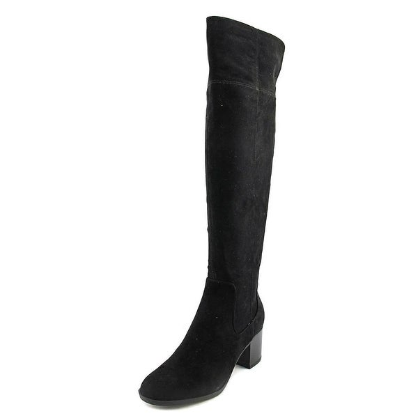Indigo Rd. Oneal Women Round Toe Synthetic Black Knee High Boot