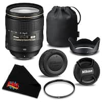 Nikon AF-S NIKKOR 24-120mm f/4G ED VR Lens 2193  Bundle- International Version