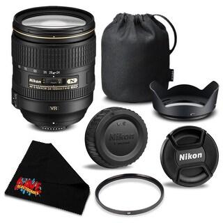 Nikon AF-S NIKKOR 24-120mm f/4G ED VR Lens 2193 Bundle- International Version