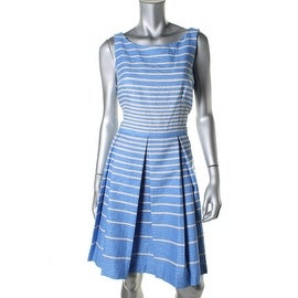 Taylor Dresses Womens Striped Sleeveless Cocktail Dress - 12
