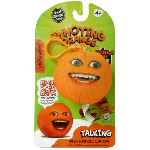 """Annoying Orange 2.25"""" Talking Plush Clip On: Smiling Orange"""
