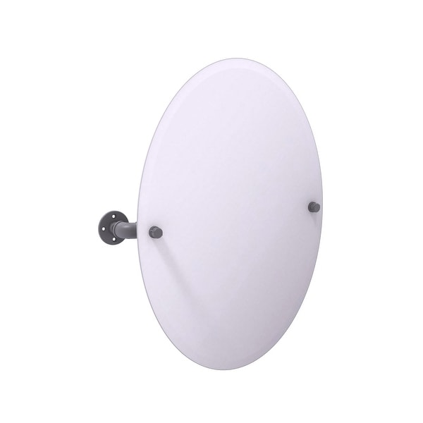 Allied Brass Pipeline Collection Frameless Oval Wall Mounted Tilt Mirror