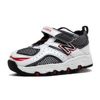 New Balance Toddler 515 White/Black-Silver-Red KV515WRI Size 3C