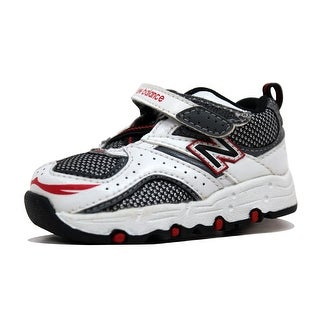 New Balance Toddler 515 White/Black-Silver-Red KV515WRI Size 3C