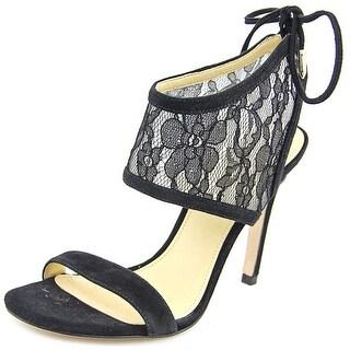 Ivanka Trump Daza Open Toe Canvas Sandals