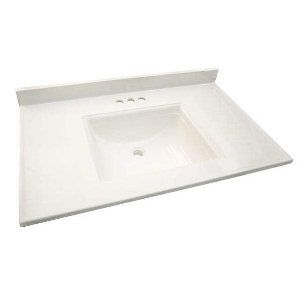 Design House 557645 37 Marble Drop In Vanity Top With Integrated Sink And 3
