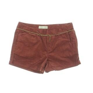 Zara Girls Corduroy Adjustable Waist Casual Shorts - 11/12