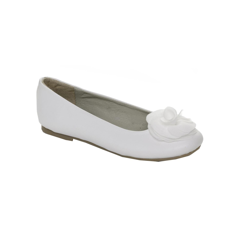Pazitos Girls White Silk Flower Slip