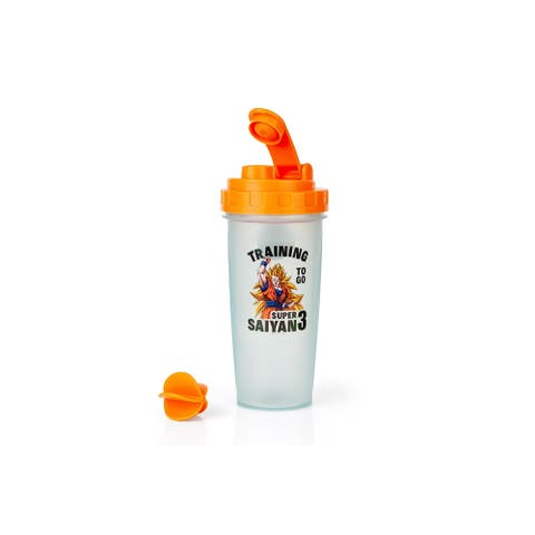 Dragon Ballz Super Saiyan Goku Gym Shaker Bottle - Orange