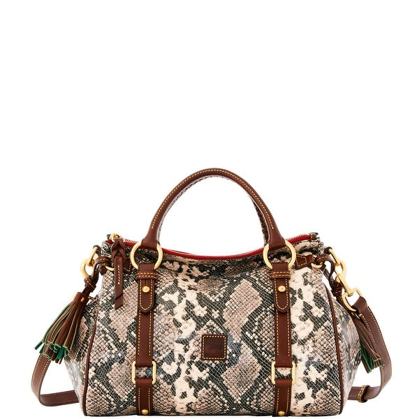 Dooney & Bourke City Python Small Satchel (Introduced by Dooney & Bourke at $428 in Sep 2016) - slate