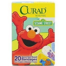 Curad Sesame Street Bandages Assorted Sizes 20 Each