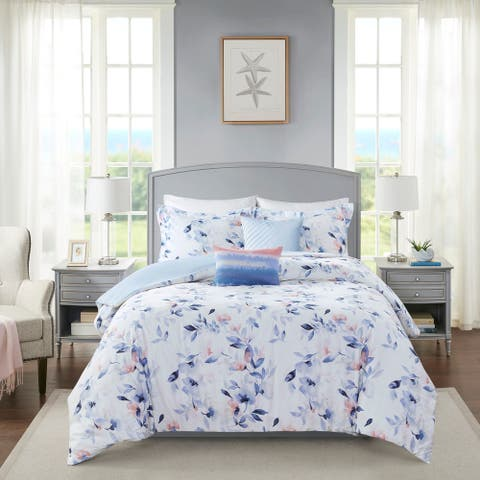 Harbor House Betsy White 5 Piece Cotton Sateen Comforter Set