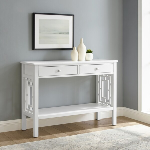 Wales Geometric Two-Drawer Console Table. Opens flyout.