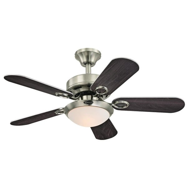 "Westinghouse 7203200 Cassidy 36"" 5 Blade Hanging Ceiling Fan with Reversible Motor, Blades, and Light Kit Included"