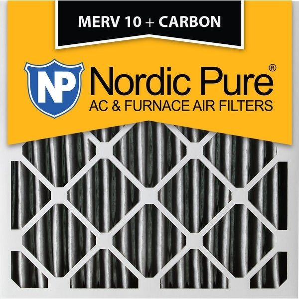 shop nordic pure 20x20x4 pleated merv 10 plus carbon ac furnace ...