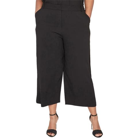 Rachel Roy Womens Addison Casual Wide Leg Pants